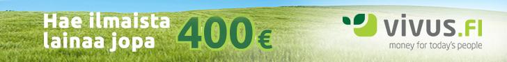Vivus.fi - Hae ilmaista lainaa jopa 400€