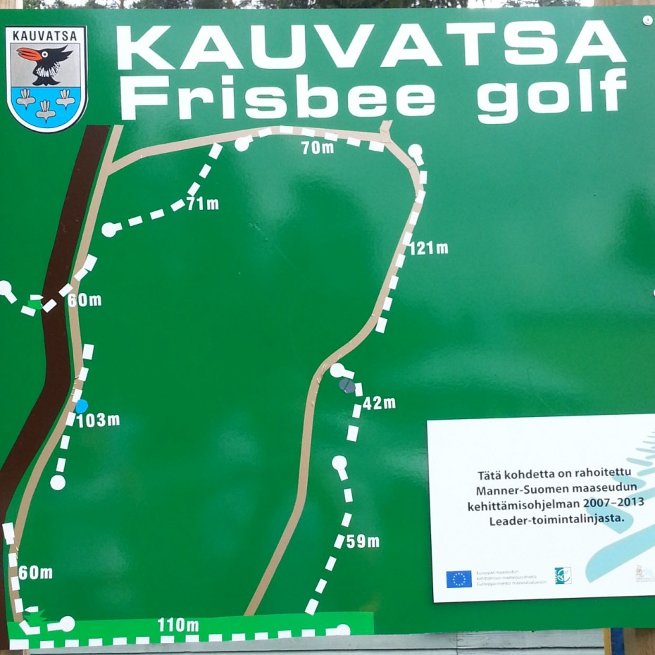 Kauvatsa Kokemaki Ratakartta 2014 Frisbeegolfradat Fi