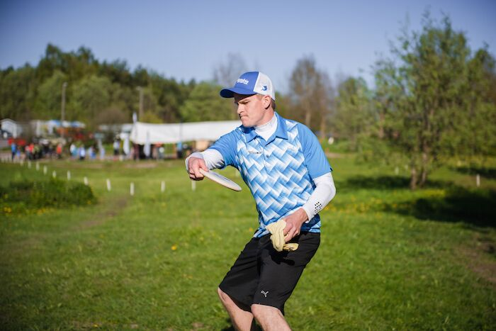 Miko Fyhr pelasi itsensä kärkiryhmään. Kuva: Innova Champion Europe, arkistokuva.