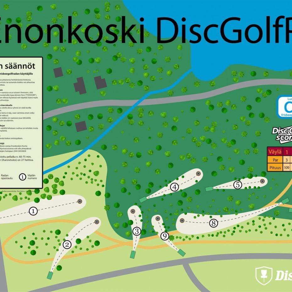 Enonkoski Infoboard Nettiversio Frisbeegolfradat Fi