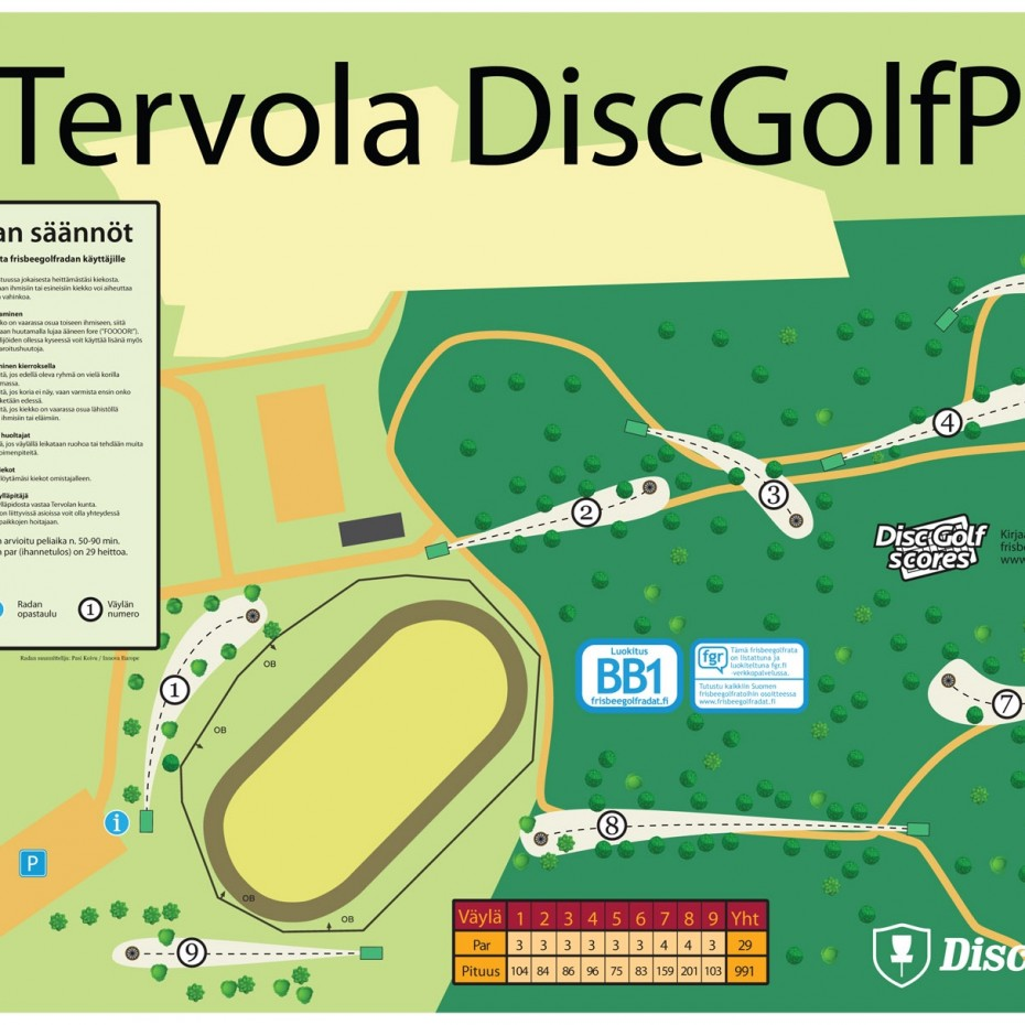 Tervola Dgp Infoboard Final Frisbeegolfradat Fi