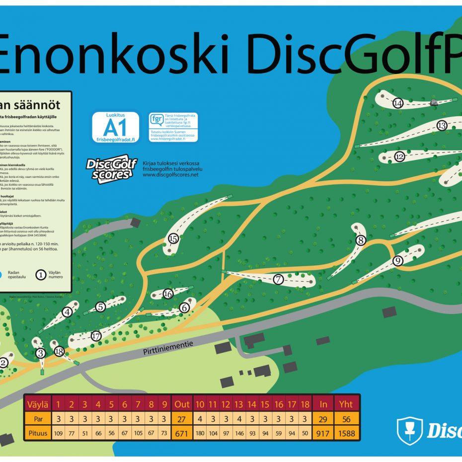 Enonkoski Dgp18 Infoboard Frisbeegolfradat Fi