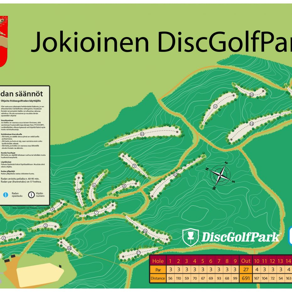 Jr004 Jokioinen Dgp Infoboard Frisbeegolfradat Fi