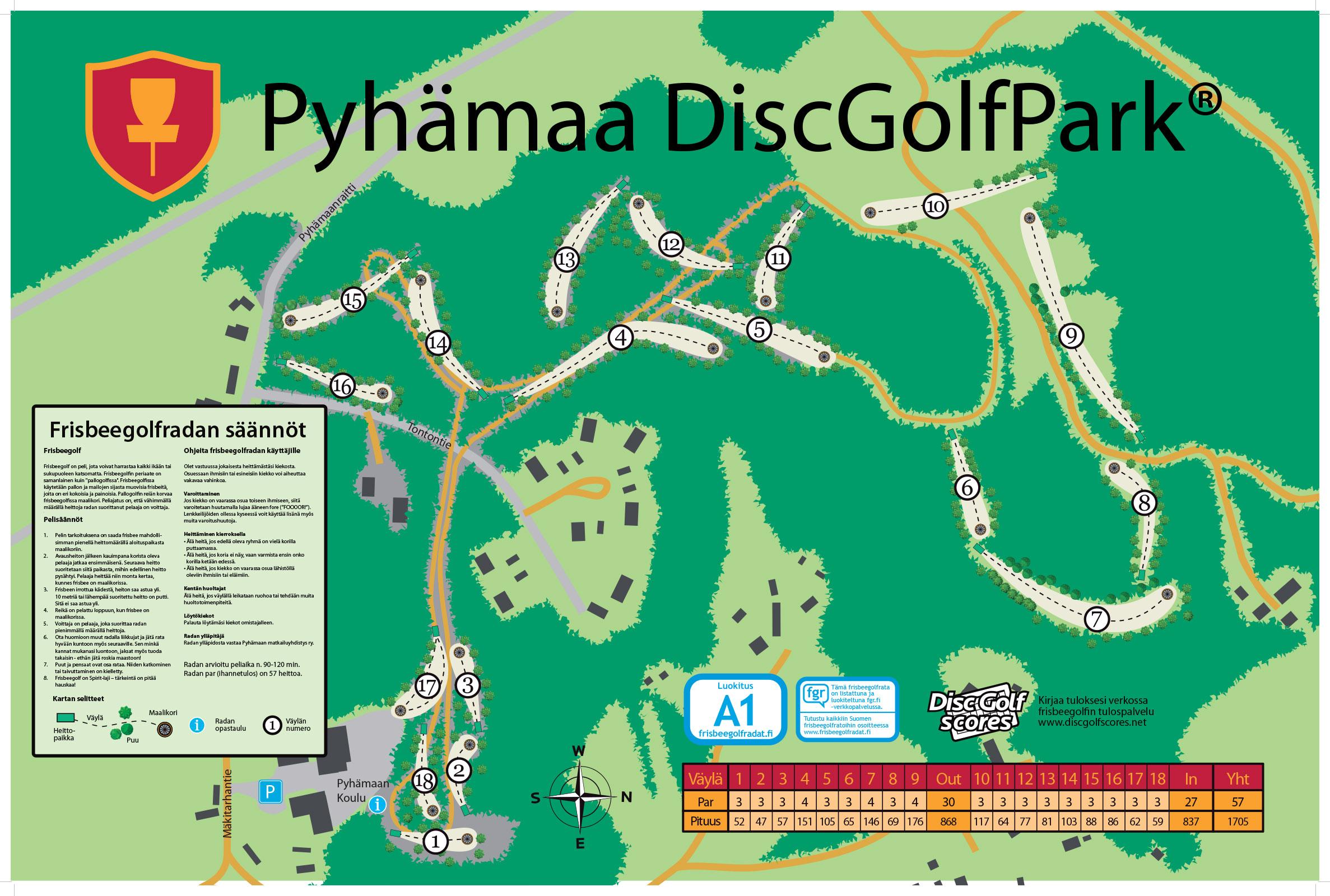 Pyhamaa Discgolfpark Radat Frisbeegolfradat Fi