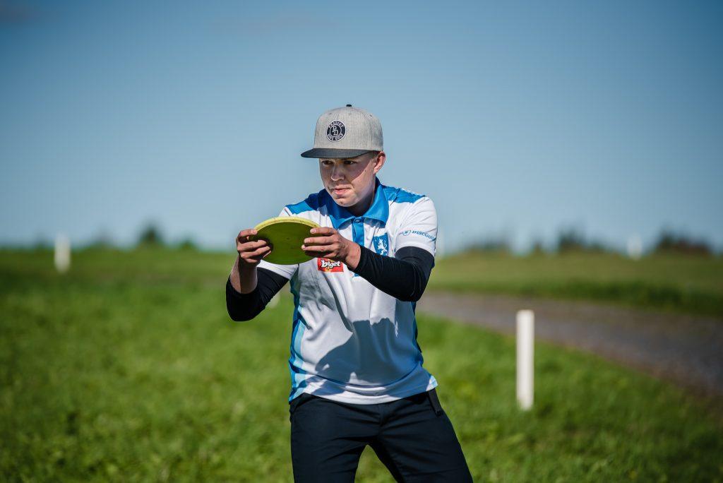 Väinö Mäkelän fokus pysyi pelissä ja tuotti johtotuloksen junioreissa. Kuva: Eino Ansio / EDGC2016