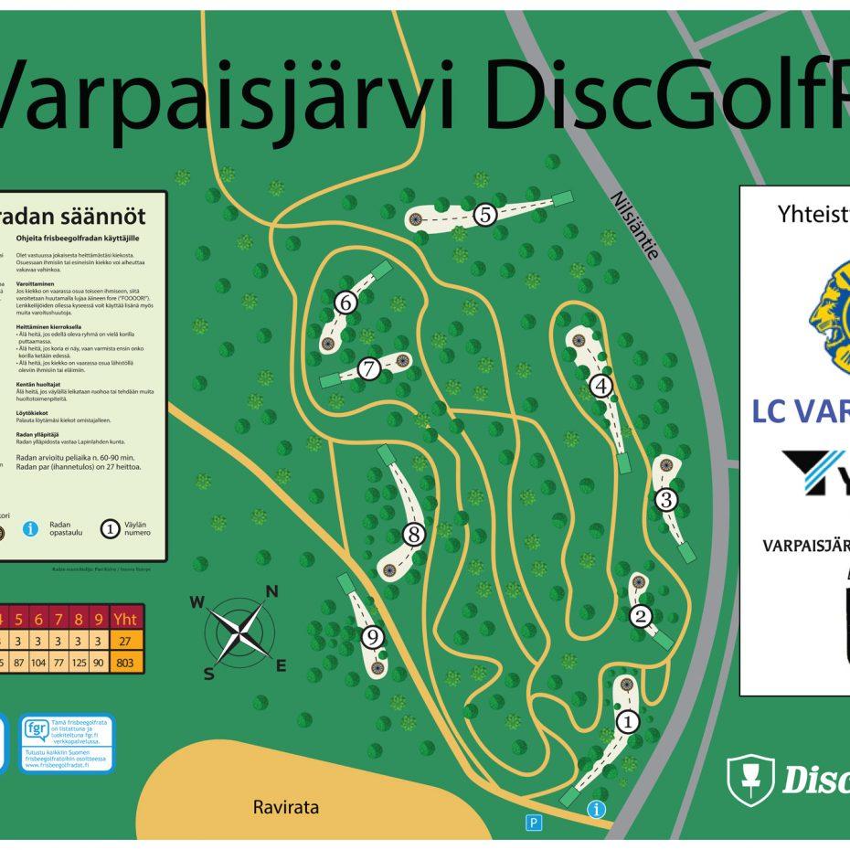Varpaisjarvi Dgp Infoboard Final Frisbeegolfradat Fi
