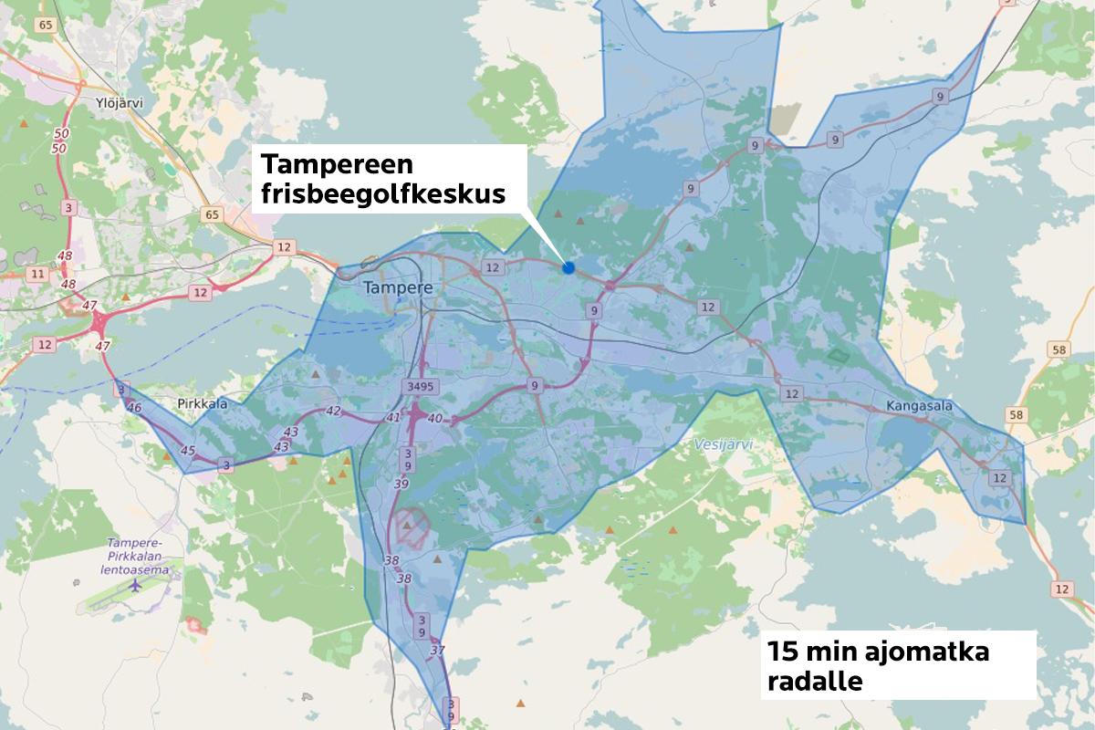 Vartin ajomatkan päässä radalta asuu 200 000 pirkanmaalaista.