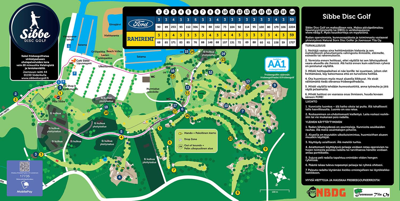 Frisbee Golf Radat